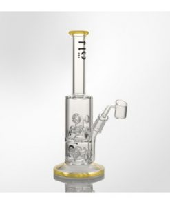 "Flo Glass 10"" Water Pipe with Helicopter Percolator"