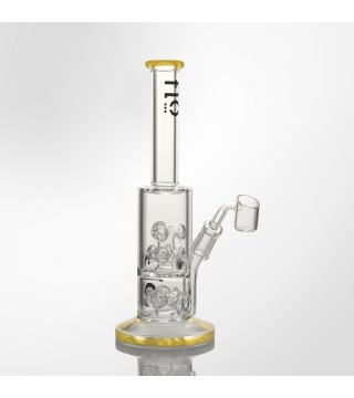"""Flo Glass 10"""" Water Pipe with Helicopter Percolator"""